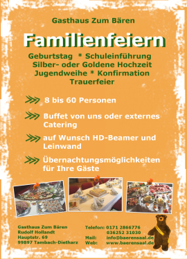 Familienfeiern Tambach-Dietharz
